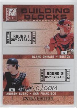 2011 Donruss Elite Extra Edition - Building Blocks Quads #6 - Andrew Susac, Jake Lowery, Blake Swihart, John Hicks