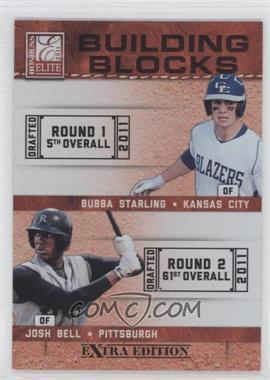 2011 Donruss Elite Extra Edition - Building Blocks Quads #9 - Bubba Starling, Josh Bell, Brandon Nimmo, Dwight Smith Jr.