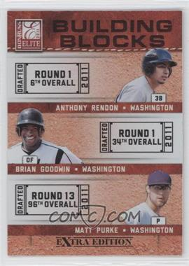 2011 Donruss Elite Extra Edition - Building Blocks Trios #1 - Anthony Rendon, Brian Goodwin, Matt Purke