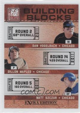 2011 Donruss Elite Extra Edition - Building Blocks Trios #3 - Dan Vogelbach, Dillon Maples, Matt Szczur