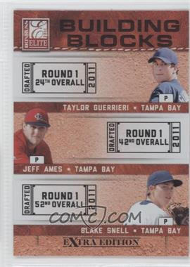 2011 Donruss Elite Extra Edition - Building Blocks Trios #6 - Blake Snell, Jeff Ames, Taylor Guerrieri