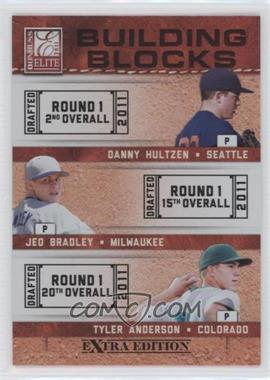 2011 Donruss Elite Extra Edition - Building Blocks Trios #8 - Tyler Anderson, Danny Hultzen, Jed Bradley