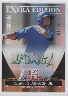 2011 Donruss Elite Extra Edition - Franchise Futures Signatures - Green Ink #152 - Shawon Dunston Jr. /10
