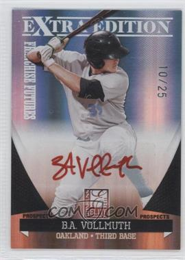 2011 Donruss Elite Extra Edition - Franchise Futures Signatures - Red Ink #30 - B.A. Vollmuth /25