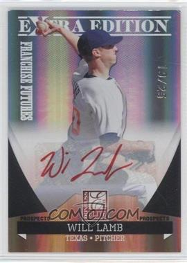 2011 Donruss Elite Extra Edition - Franchise Futures Signatures - Red Ink #39 - Will Lamb /25