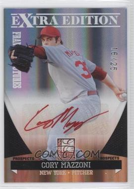 2011 Donruss Elite Extra Edition - Franchise Futures Signatures - Red Ink #4 - Cory Mazzoni /25
