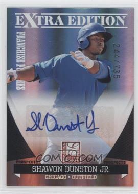 2011 Donruss Elite Extra Edition - Franchise Futures Signatures #152 - Shawon Dunston Jr. /735