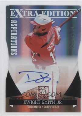 2011 Donruss Elite Extra Edition - Prospects - Aspirations Die-Cut Signatures [Autographed] #98 - Dwight Smith Jr. /100