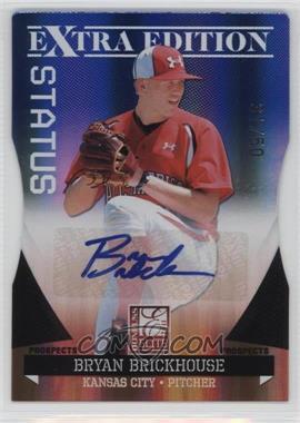 2011 Donruss Elite Extra Edition - Prospects - Blue Die-Cut Status Signatures [Autographed] #59 - Bryan Brickhouse /50