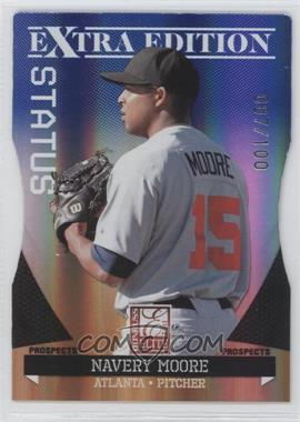 2011 Donruss Elite Extra Edition - Prospects - Blue Status Die-Cut #90 - Navery Moore /100