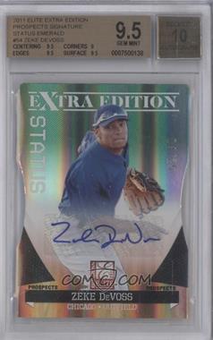 2011 Donruss Elite Extra Edition - Prospects - Emerald Status Die-Cut Signatures [Autographed] #54 - Zeke DeVoss /25 [BGS9.5]