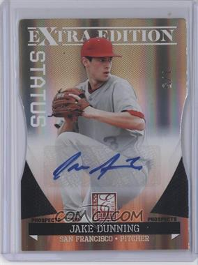 2011 Donruss Elite Extra Edition - Prospects - Gold Status Die-Cut Signatures [Autographed] #187 - Jake Dunning /5