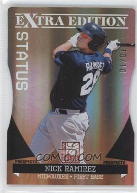 2011 Donruss Elite Extra Edition - Prospects - Gold Status Die-Cut #41 - Nick Ramirez /10