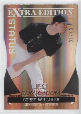 2011 Donruss Elite Extra Edition - Prospects - Gold Status Die-Cut #82 - Corey Williams /10