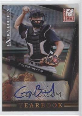 2011 Donruss Elite Extra Edition - Yearbook - Signatures [Autographed] #6 - Greg Bird /210