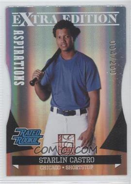 2011 Donruss Elite Extra Edition Aspirations Die-Cut #11 - Starlin Castro /200