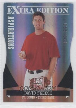 2011 Donruss Elite Extra Edition Aspirations Die-Cut #20 - David Freese /200