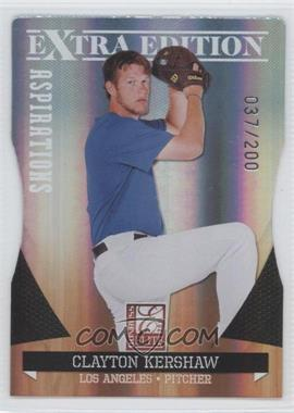 2011 Donruss Elite Extra Edition Aspirations Die-Cut #3 - Clayton Kershaw /200