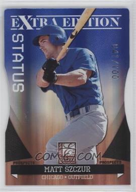 2011 Donruss Elite Extra Edition Autographed Prospects Blue Die-Cut Status Non-Autographed #P-21 - Matt Szczur /100