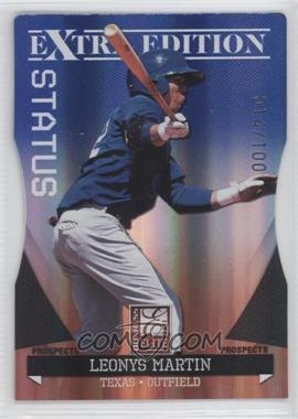 2011 Donruss Elite Extra Edition Autographed Prospects Blue Die-Cut Status Non-Autographed #P-44 - Leonys Martin /100