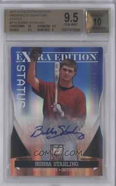 2011 Donruss Elite Extra Edition Autographed Prospects Blue Die-Cut Status #P-10 - Bubba Starling /50 [BGS 9.5]