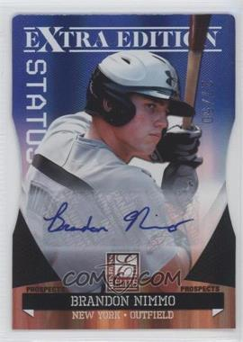 2011 Donruss Elite Extra Edition Autographed Prospects Blue Die-Cut Status #P-24 - Brandon Nimmo /50
