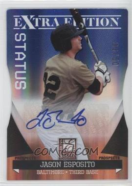 2011 Donruss Elite Extra Edition Autographed Prospects Blue Die-Cut Status #P-9 - Jason Esposito /50