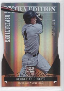 2011 Donruss Elite Extra Edition Autographed Prospects Die-Cut Aspirations Non-Autographed #P-36 - George Springer /200