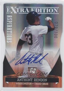 2011 Donruss Elite Extra Edition Autographed Prospects Die-Cut Aspirations #P-2 - Anthony Rendon /100