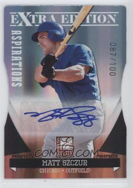 2011 Donruss Elite Extra Edition Autographed Prospects Die-Cut Aspirations #P-21 - Matt Szczur /100