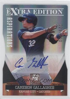 2011 Donruss Elite Extra Edition Autographed Prospects Die-Cut Aspirations #P-26 - Cameron Gallagher /100