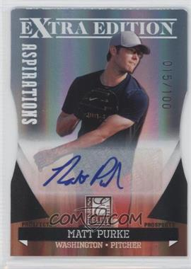 2011 Donruss Elite Extra Edition Autographed Prospects Die-Cut Aspirations #P-43 - Matt Purke /100