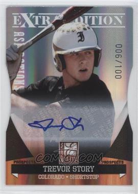 2011 Donruss Elite Extra Edition Autographed Prospects Die-Cut Aspirations #P-49 - Trevor Story /100