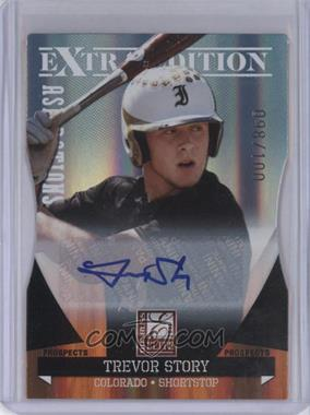 2011 Donruss Elite Extra Edition Autographed Prospects Die-Cut Aspirations #P-49 - Trevor Story /100