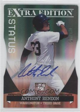 2011 Donruss Elite Extra Edition Autographed Prospects Emerald Die-Cut Status #P-2 - Anthony Rendon /25