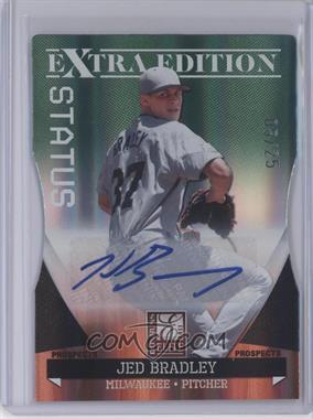 2011 Donruss Elite Extra Edition Autographed Prospects Emerald Die-Cut Status #P-25 - Jed Bradley /25