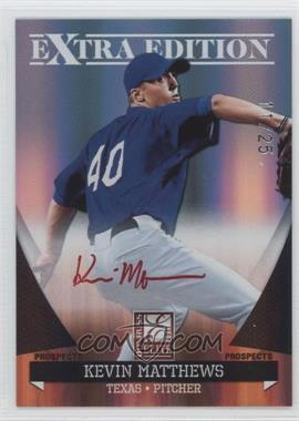 2011 Donruss Elite Extra Edition Autographed Prospects Red Ink #P-23 - Kevin Matthews /25
