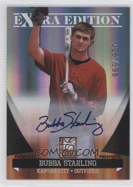 2011 Donruss Elite Extra Edition Autographed Prospects #P-10 - Bubba Starling /598