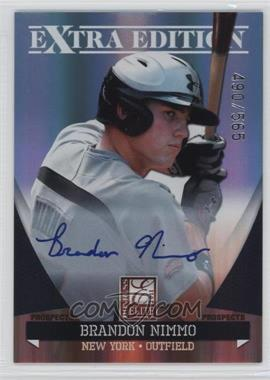 2011 Donruss Elite Extra Edition Autographed Prospects #P-24 - Brandon Nimmo /565