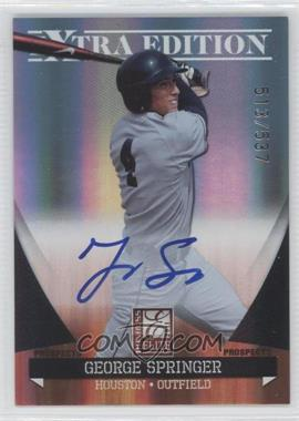 2011 Donruss Elite Extra Edition Autographed Prospects #P-36 - George Springer /537