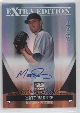 2011 Donruss Elite Extra Edition Autographed Prospects #P-48 - Matt Barnes /564