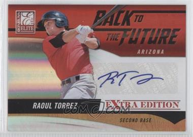 2011 Donruss Elite Extra Edition Back to the Future Signatures #17 - Raoul Torrez /494
