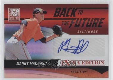 2011 Donruss Elite Extra Edition Back to the Future Signatures #19 - Manny Machado /325