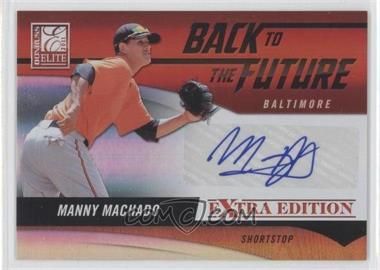 2011 Donruss Elite Extra Edition Back to the Future Signatures #19 - Manny Machado /325