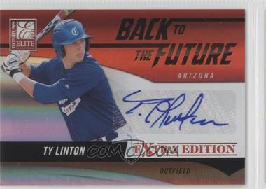 2011 Donruss Elite Extra Edition Back to the Future Signatures #4 - Ty Linton /521