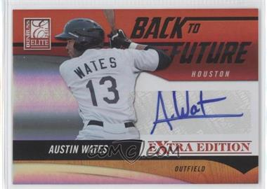 2011 Donruss Elite Extra Edition Back to the Future Signatures #5 - Austin Wates /595