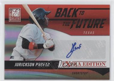 2011 Donruss Elite Extra Edition Back to the Future Signatures #8 - Jurickson Profar /429