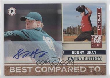 2011 Donruss Elite Extra Edition Best Compared To Signatures [Autographed] #8 - Sonny Gray /25
