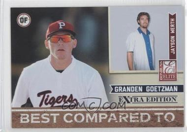 2011 Donruss Elite Extra Edition Best Compared To #11 - Jayson Werth, Granden Goetzman /499
