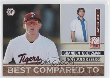 2011 Donruss Elite Extra Edition Best Compared To #11 - Jayson Werth, Granden Goetzman /499